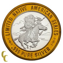 Chief medicine crow native american casino gaming token part .999 silver - $61.91