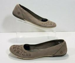 Merrell Mimix Haze Floral Nubuck Ballet Flats Loafers Women 10 Simple Taupe Gray - $32.71