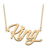 King Name Necklace for Best Friends Family Girl Friend Birthday Gifts - $13.99 - $15.99