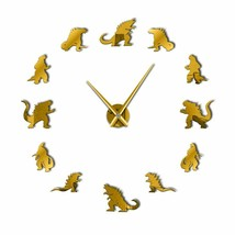 Giant 3D DIY Wall Clock for Dinosaur Lovers The Age Of Dinosaurs Room De... - $31.35+