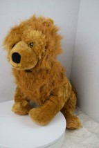 """KellyToy Chow Golden Brown Hairy Dog with Black Collar 16"""" - $16.00"""