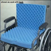 Convoluted Wheelchair Cushion w/Back & Blue Polycotton Cover - $34.75