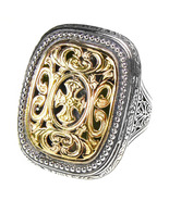 Gerochristo 2622 - Solid Gold & Silver Medieval-Byzantine Cross Ring  / ... - $850.00