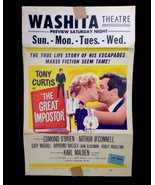 """1961 Original Vintage The Great Impostor Tony Curtis Movie Poster 22"""" By... - $15.77"""