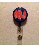 Mlb Boston Red Sox Badge Reel Id Holder New Handmade Red Blue alligator ... - $6.95
