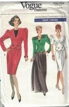 7679 non Découpé Vogue Couture Motif Femmes Coupe Large Veste Jupe Facil... - $4.88