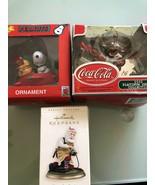 VINTAGE Original Peanuts Snoopy, Coca Cola , Hallmark Christmas Ornaments - $49.99