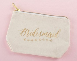 Bridesmaid Gifts Makeup Bags Gold Foil Bridesmaid Canvas Makeup Bag - $9.69