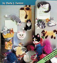 Plastic Canvas 25 Kitty Cat Lover Magnets Jumper Bouncer Sleepy Blacky Patterns - $12.99
