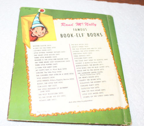 Vint Child's Book Scalawag the Monkey a Book-Elf-Book Remarkable Pictures Cat