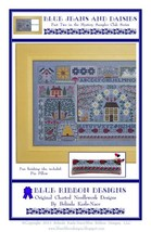 Blue Jeans And Daisies PT 2 MYSTERY SAMPLER cross stitch Blue Ribbon Des... - $7.65