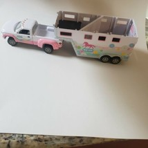 Breyer Horse Stablemate Accessory pink Park and Ride Truck Trailer Pony ... - $39.60