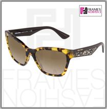 MIU MIU PAVE EVOLUTION MU 06R Square Brown Havana Silver Rock Sunglasses MU06RS image 9