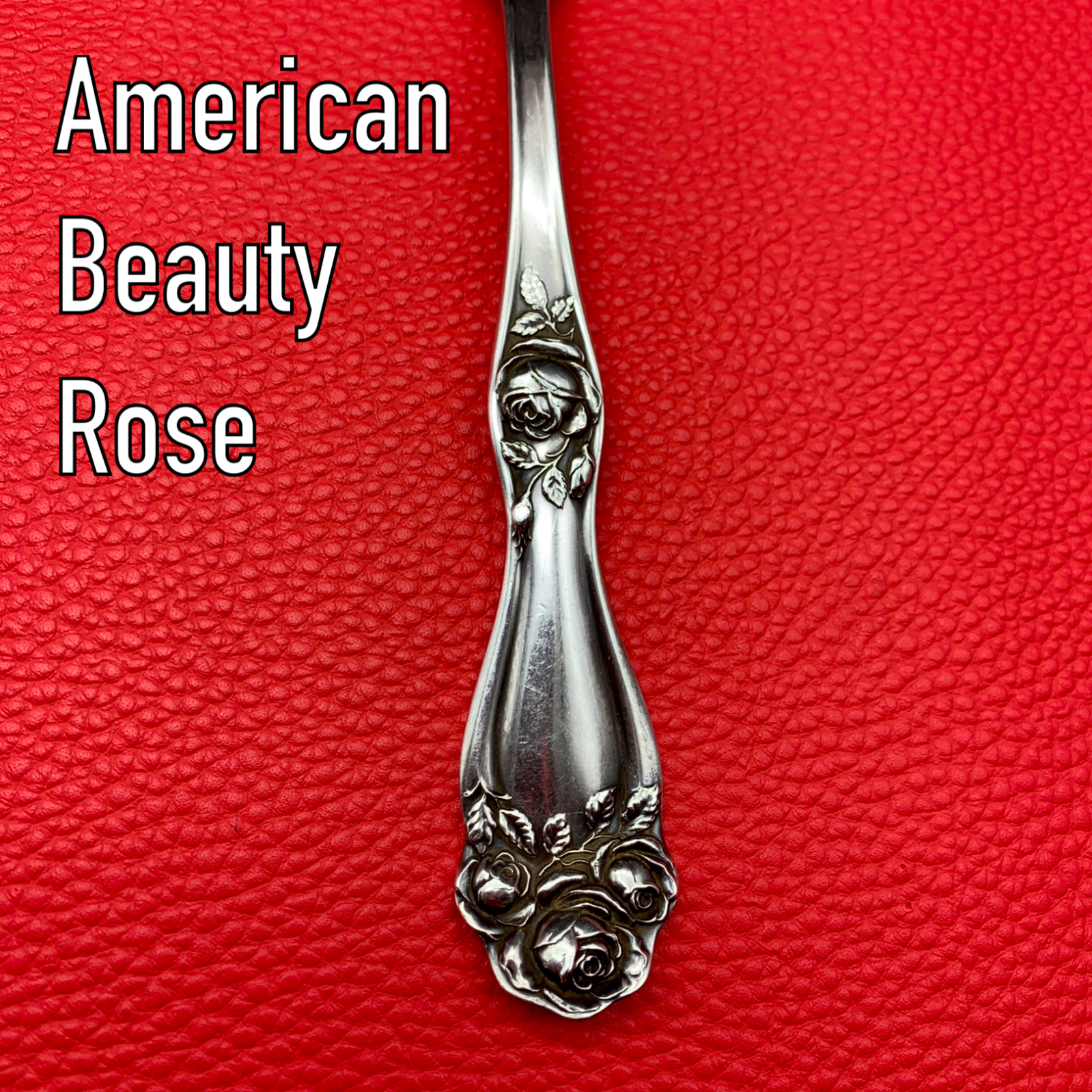 Silverware FRED BROSEGAARD American Beauty Rose 1909 Rogers Holmes Edwards IS318 - $18.94