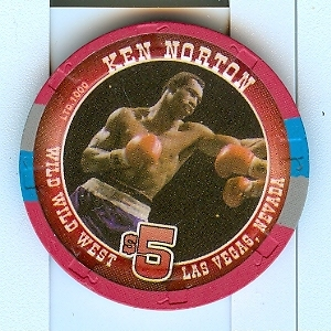 $5 Wild Wild West Las Vegas Boxing Casino Chip Ken Norton