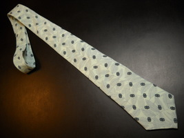 Allyn St George Neck Tie Silk Light Mint Green Abstract Leaves Blooms Ba... - $10.99