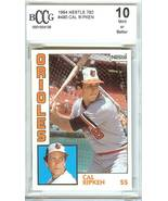 1984 topps nestle cal ripken jr beckett graded 10 psa? baseball card bal... - $99.99