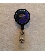Nfl Baltimore Ravens Badge Reel Id Holder Handmade Purple Black alligato... - $6.95