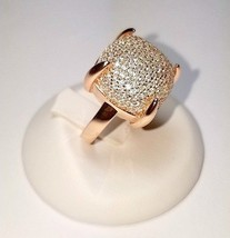 ZirconZ Cust-Pave Signity CZ  Dome Boxed Sterling Silver Designer Inspir... - $119.99