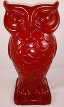 "Red Owl Vase Planter Chalkware Heavy 10"" - $49.49"