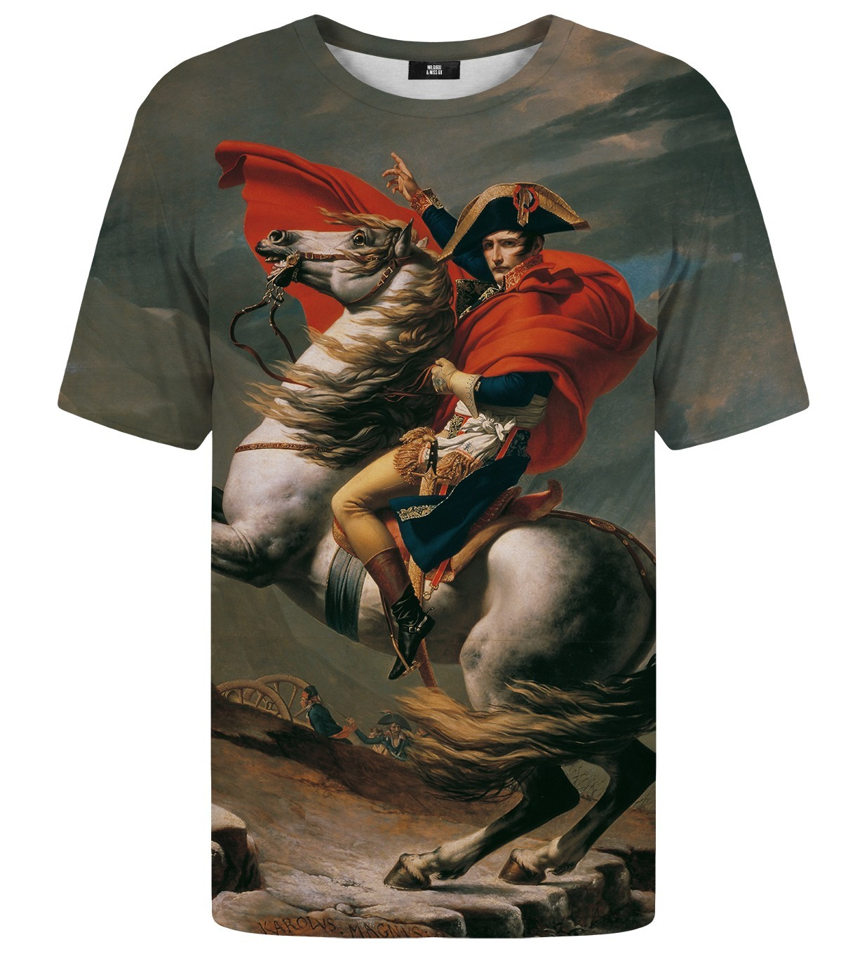Napoleon Crossing the Alps Printed T-Shirt | Unisex | XS-2XL | Mr.Gugu & Miss Go