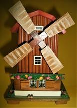 Wooden Dutch Wind Mill Home Décor, Cuckoo clock shop Novelty item - $16.83