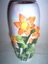 LUSTERWARE DAYLILLIES 6.5in BEDROOM VASE - $24.00