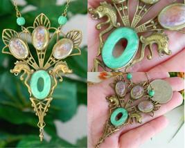 Vintage fishel nessler art deco pendant necklace thumb200