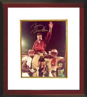 Bobby Bowden signed Florida State Seminoles Carryoff 8x10 Photo Custom Framed