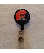 Nfl Cincinnati Bengals Badge Reel Id Holder orange black alligator clip ... - $6.95