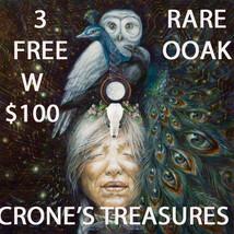 ONLY 3 AVAILABLE FREE W/ $100 ALBINA'S CRONE'S TREASURES OOAK MAGICK 7 SCHOLAR - Freebie