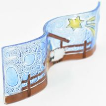 Fused Art Glass Christmas Nativity Star Wavy Décor Sun Catcher Handmade Ecuador image 5