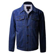 Junior Kids Boy's Premium Button Up Denim Fur Lined Trucker Sherpa Jean Jacket image 2