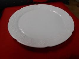 "Beautiful Vintage Indiana Milk Glass ""Colony Harvest"" Platter / Tray - $17.04"