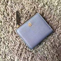 New Tory Burch Robinson Pebbled Mini Wallet - $93.00