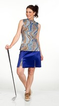 "Stylish Womens Longer 20"" Blue Golf Skort with Animal Print Shortie - GoldenWear image 3"