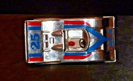 Silver and blue and red #25 Racecar with Driver AA19-1508 Vintage image 7