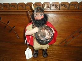 "Antique Denmark Viking Porcelain Doll Statue Figurine 8.25"" Hand Painted - $86.85"