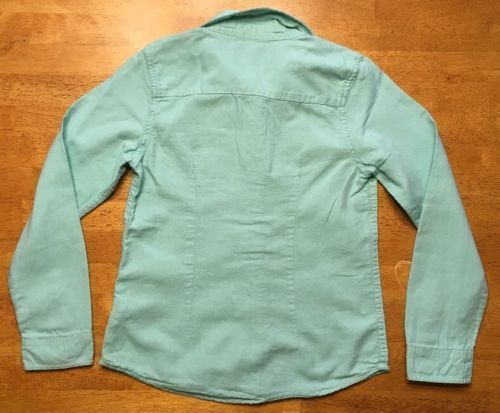 Gap Kids Girl's Teal Long Sleeve Dress Shirt - Size: Medium image 12