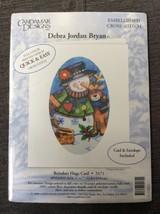 Candamar Cross Stitch Christmas Card Kit Reindeer Hugs Snowman 5171 Debr... - $8.54