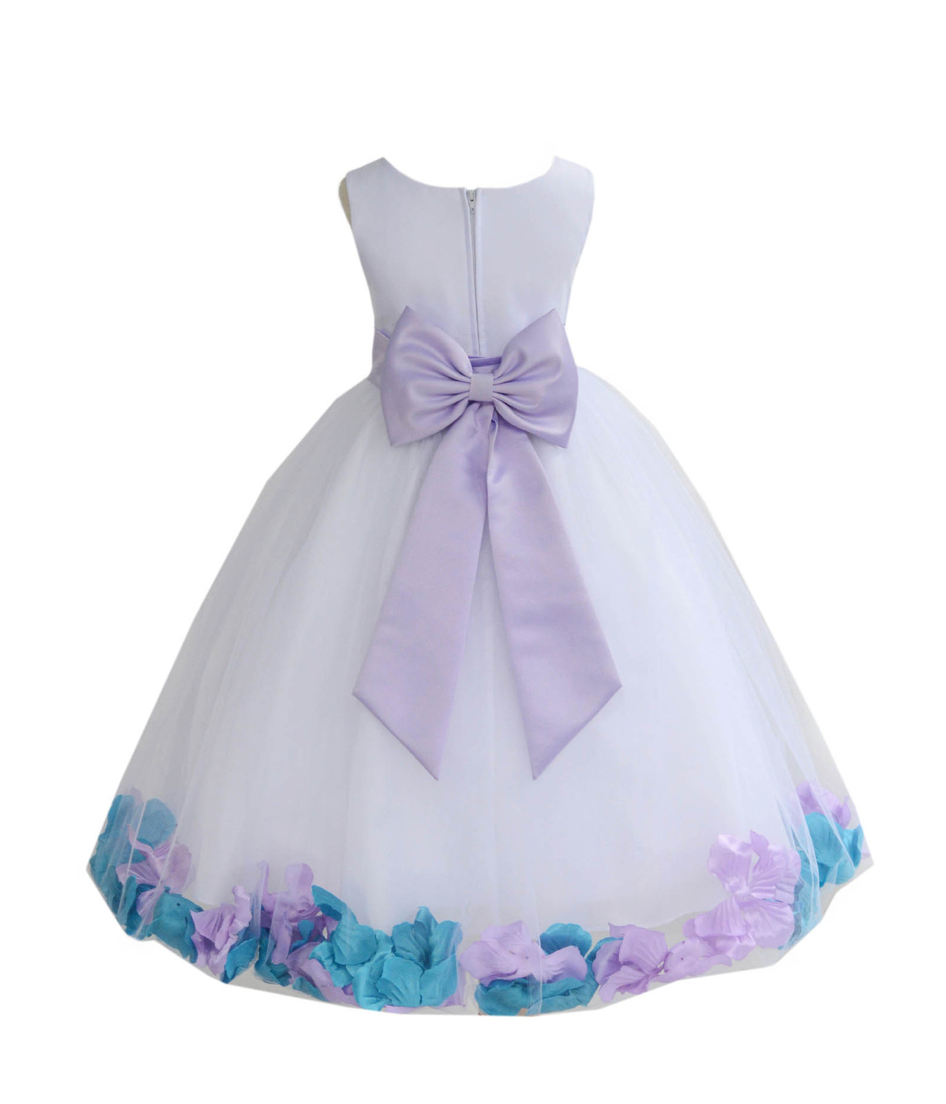 4442d0cbb White Mixed Petals Flower Girl Dress Elegant and similar items
