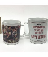 Leanin Tree Funny Remember When We Only Had One Chin Happy Birthday Mug Vtg - £13.58 GBP