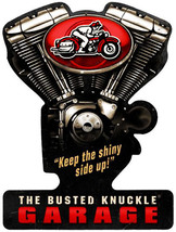 Busted Knuckle Garage V-Twin Metal Sign Metal Sign Plasma Cut - $45.00