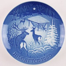 "Bing & Grondahl 1980 ""Christmas in the Woods"" 7.25"" Collector Plate Denmark - $12.86"