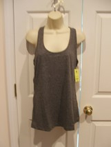 NWT Women xersion quick- dri  CHARCOAL RACER BACK tank top size PETITE X... - $18.80