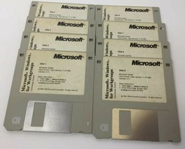 RARE Microsoft Windows 3.11 Original 1.44MB Floppy Disk Set Software - $39.99