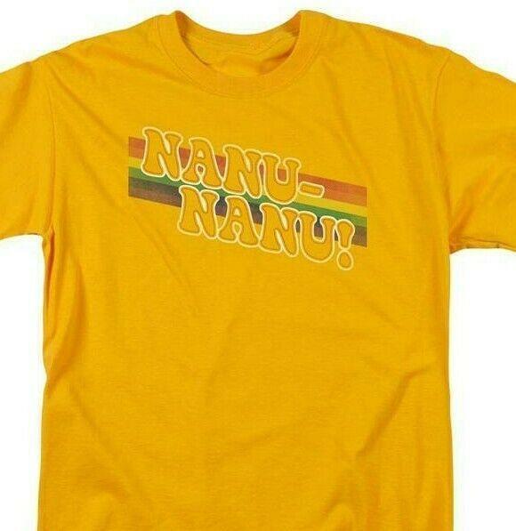 Mork & Mindy Nanu Nanu T-shirt retro 70s classic tv Robin Williams gold CBS1078