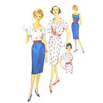 60s Vintage Simplicity Sewing Pattern 3883 Misses Sheath Dress Cropped J... - $16.95