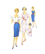 60s Vintage Simplicity Sewing Pattern 3883 Misses Sheath Dress Cropped J... - $19.95