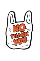 No Thank You Enamel Pin Lapel Brooch Grocery bag - $15.52